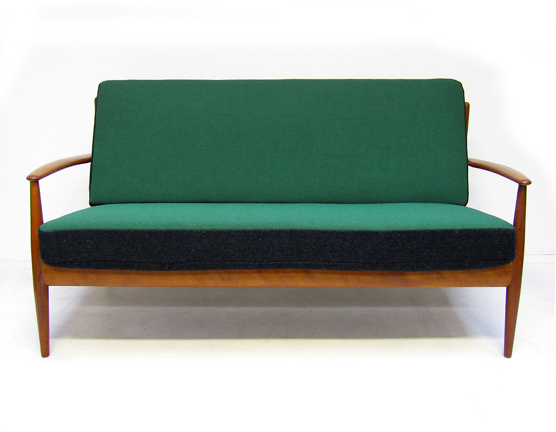 Danish Sofa and Lounge Chair Set by Grete Jalk | www.No-Repro.com