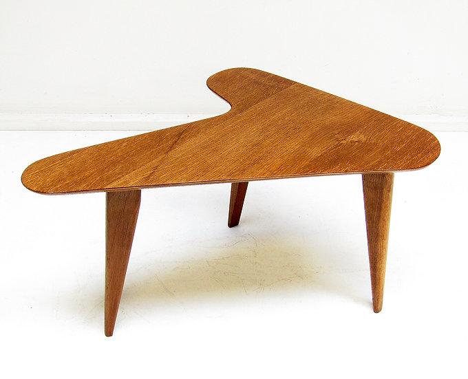 1960s Artist's Palette Side Table In Oak & Ply