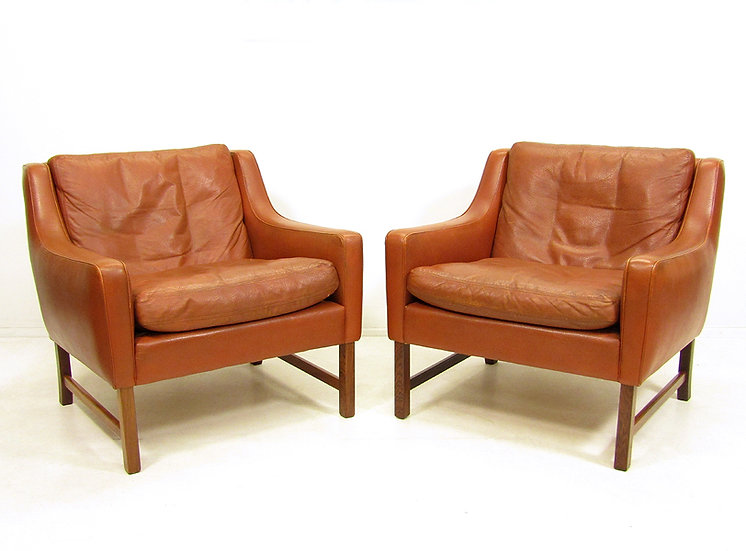 Pair of Lounge Chairs By Fredrik Kayser