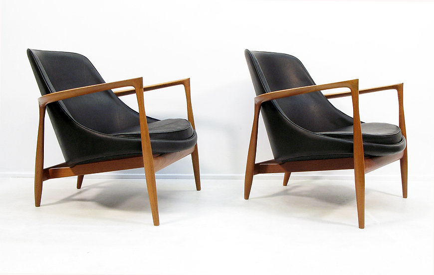 "Two 1960s ""Elizabeth"" Chairs by Ib Kofod Larsen"