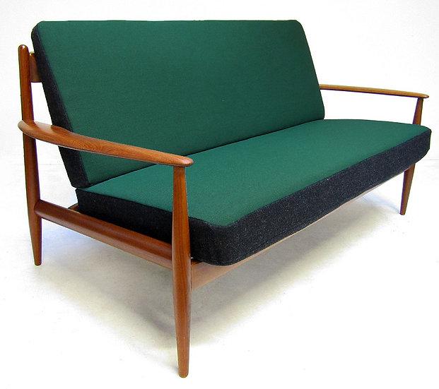 1950s Danish Sofa in Teak & Kvadrat by Grete Jalk