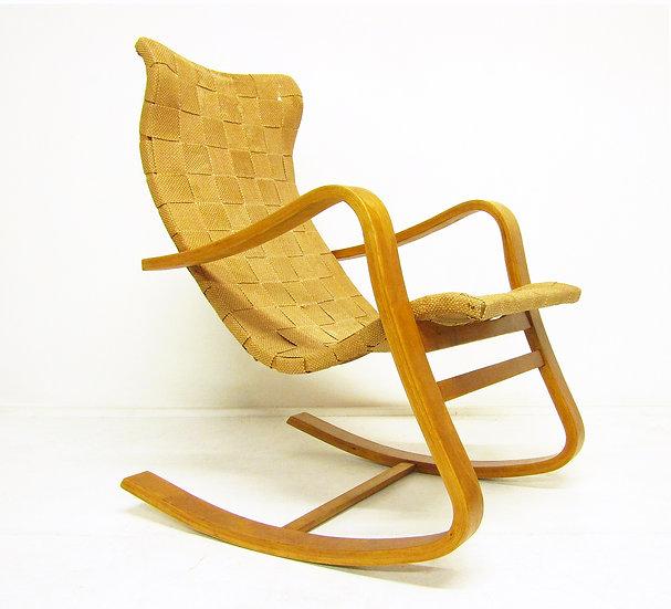 1940s Swedish Rocking Chair Gustaf Axel Berg Alvar Aalto Finmar
