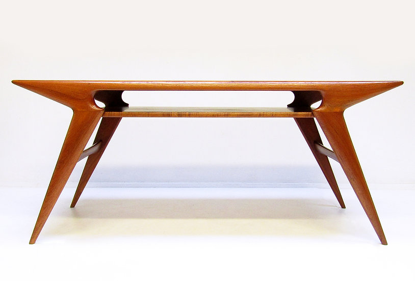 Large Danish Coffee Table By Johannes Andersen