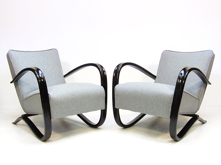 "Pair Of ""H269"" Lounge Chairs By Jindrich Halabala"