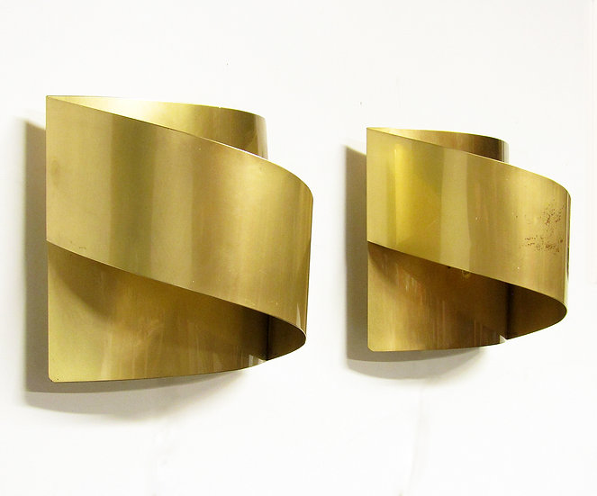 Peter Celsing Wall Lights Sconces Brass Band Swedish Sculptural