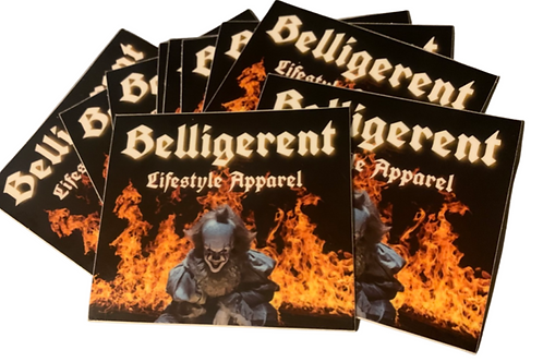 Belligerent Clown Stickers