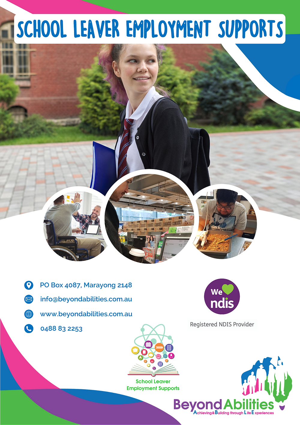 Beyond Abilities - School Leaver Employment Supports (SLES) flyer