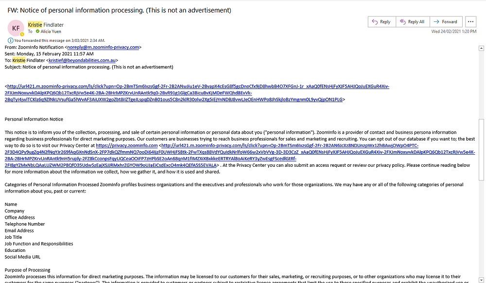 an example of a phishing scam email we've received