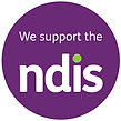 We Support the NDIS purple logo registered NDIS provider