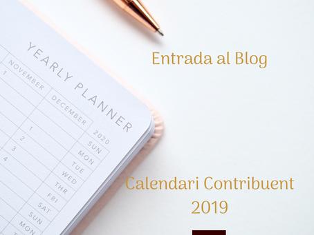 Calendari Contribuent 2019