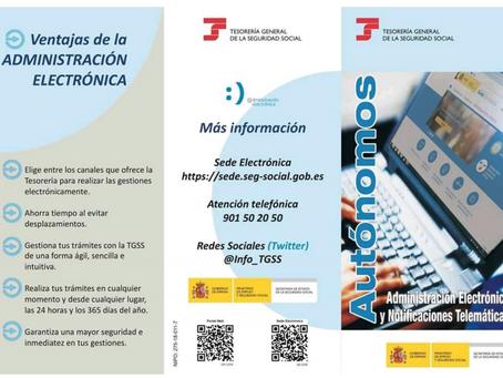 Autònoms, administració electrònica i notificacions telemàtiques.
