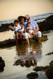 Family sunset photo shoot in Tamarindo, Costa Rica