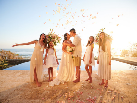Intimate wedding at Playa Negra