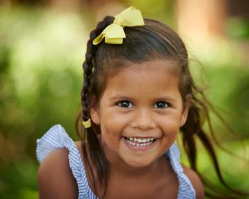 Child's portrait in Tamarindo, Costa Rica