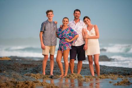 Family photos in Playa Tamarindo, Costa Rica