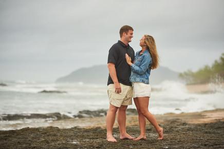 Surprise proposal on Playa Langosta in Tamarindo, Costa RIca