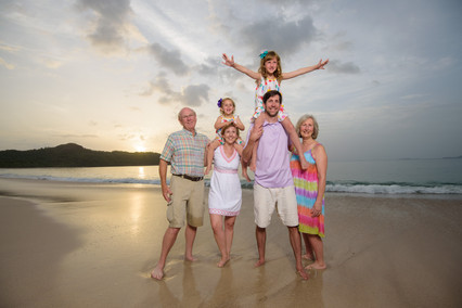 Family photography at Reserva Conchal, Costa Rica