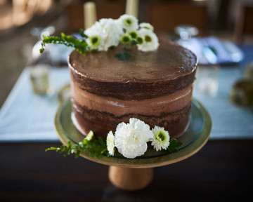 Wedding cake by Victoria Zoch at Pangas Beach Club in Tamarindo, Costa Rica