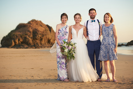 Beach wedding photographer at RipJack Inn in Playa Grande, Costa Rica