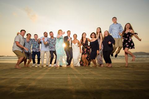 Beach wedding reception at the Tamarindo Diria in Tamairndo, Costa Rica