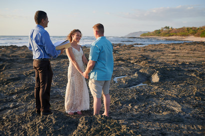 Beach wedding photography at the Occidental Tamarindo in Costa Rica