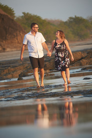Playa Junquillal in Costa Rica engagement photographer