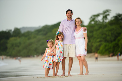 Family beach photo shoot near Tamarindo, Costa Rica