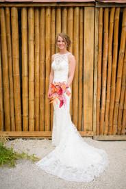 Blushing bride at the Ripjack Inn in Playa Grande, Costa Rica