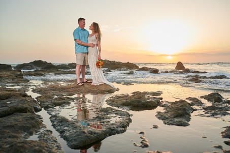 Tropical elopement photos at the Occidental Tamarindo in Costa Rica