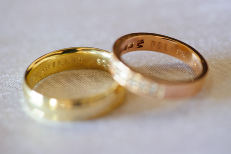 Wedding rings at the Chapel in Hacienda Pinilla