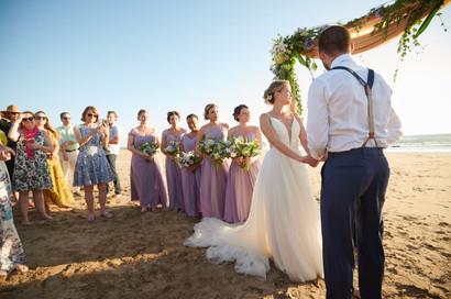 Wedding ceremony photographer at RipJack Inn in Playa Grande, Costa Rica