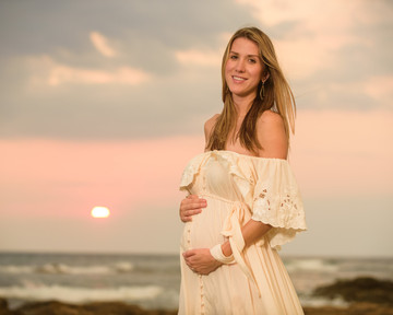 Maternity photo shoot on Langosta Beach, Costa Rica