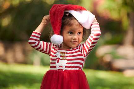 Kids Christmas photos in Tamarindo, Costa Rica