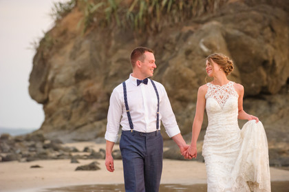 Wedding photography at the Ripjack Inn in Playa Grande, Costa Rica