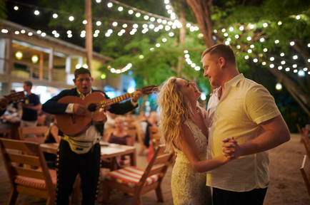 First dance at Pangas Beach Club in Tamarindo, Costa Rica