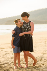 Mother and Son moment at the Ripjack Inn in Playa Grande, Costa Rica