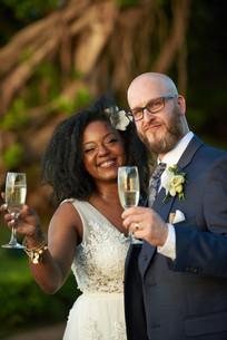 Wedding toast at the Tamarindo Diria, Costa Rica