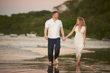 Wedding photos at Pangas Beach Club in Tamarindo, Costa Rica