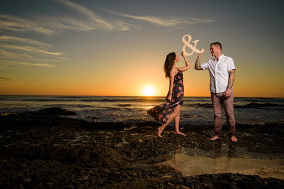 Celebrating a new engagement in Tamarindo, Costa Rica