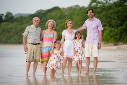 Family photos at Reserva Conchal, Costa Rica
