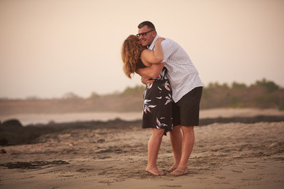Playa Junquillal in Costa Rica engagement photography