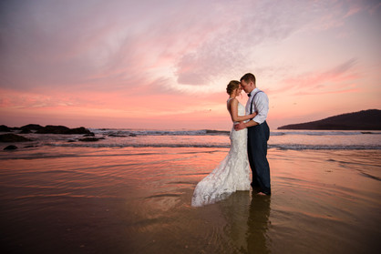 Wedding photos at the Ripjack Inn in Playa Grande, Costa Rica