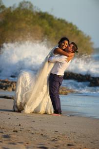 Beach wedding reception on Playa Langosta, Costa Rica