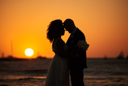 Beach wedding at the Tamarindo Diria, Costa Rica