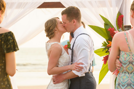 You may kiss the bride at the Ripjack Inn in Playa Grande, Costa Rica