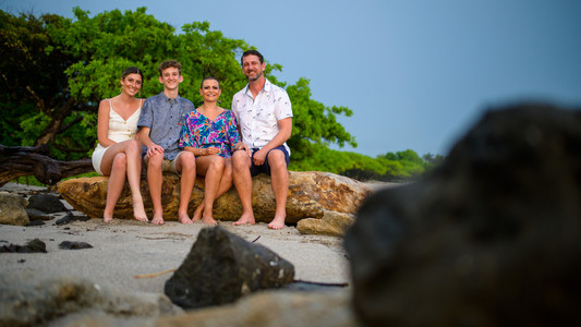 Family photos in Tamarindo, Costa Rica