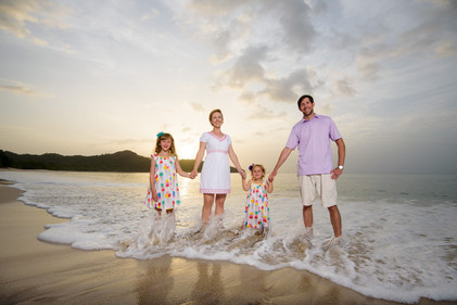 Family photo shoot near Tamarindo, Costa Rica