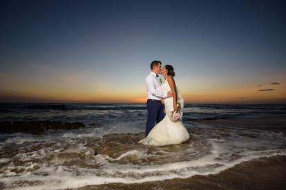Wedding photography on Playa Langosta, Costa Rica