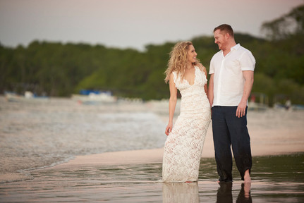 Beach wedding at Pangas Beach Club in Tamarindo, Costa Rica