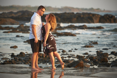 Engagement photo shoot at Playa Junquillal in Costa Rica